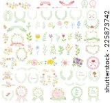 set of wedding graphic set ... | Shutterstock .eps vector #225873742