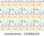 christmass seamless pattern | Shutterstock .eps vector #225886102