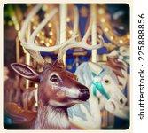 a christmas reindeer on a... | Shutterstock . vector #225888856