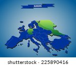 3 dimensional infographics... | Shutterstock .eps vector #225890416