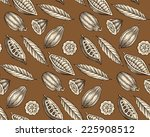 engraved pattern of leaves and... | Shutterstock .eps vector #225908512