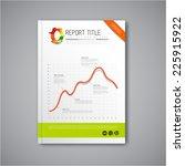 modern vector abstract brochure ...   Shutterstock .eps vector #225915922
