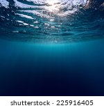 Underwater Shot Of Sea Surface...