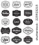 vector set of 15 of vintage...   Shutterstock .eps vector #225923215