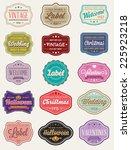 vector set of 15 of vintage...   Shutterstock .eps vector #225923218