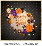 vintage halloween frame for... | Shutterstock .eps vector #225933712