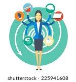 symbolic image of plenty duties ...   Shutterstock .eps vector #225941608