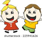 cartoon illustration of two... | Shutterstock .eps vector #225941626