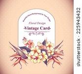 tropical floral vintage card... | Shutterstock .eps vector #225943432