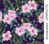 seamless exotic pattern with... | Shutterstock .eps vector #225951772