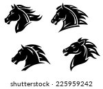 Stock vector horse heads for mascot and tattoo design 225959242