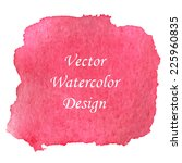pink red watercolor banner... | Shutterstock .eps vector #225960835