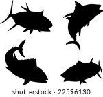 tuna silhouettes | Shutterstock . vector #22596130
