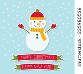 christmas vector card with a... | Shutterstock .eps vector #225980536