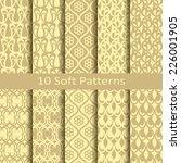 set of ten soft patterns | Shutterstock .eps vector #226001905