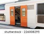 suburban railway train at the... | Shutterstock . vector #226008295