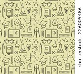 seamless pattern with school... | Shutterstock .eps vector #226009486