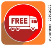 free delivery red flat icon... | Shutterstock . vector #226016272