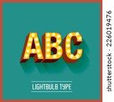 lightbulb typeface vector... | Shutterstock .eps vector #226019476