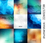 abstract design template set | Shutterstock .eps vector #226021738
