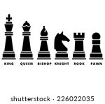 Set Of Chess Piece. Vector...