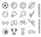 sport icon | Shutterstock .eps vector #226028905
