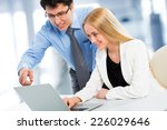 business people working with... | Shutterstock . vector #226029646