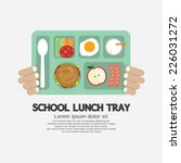 hand holding a school lunch... | Shutterstock .eps vector #226031272