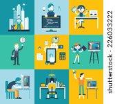 geek  website  leadership ... | Shutterstock .eps vector #226033222