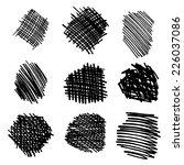marker hand drawn grunge... | Shutterstock .eps vector #226037086