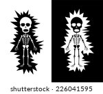 skeleton get shock | Shutterstock .eps vector #226041595