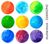 watercolor hand painted circle... | Shutterstock .eps vector #226042942