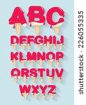 ice cream  popsicle alphabet... | Shutterstock .eps vector #226055335