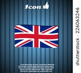 flag united kingdom. made in... | Shutterstock .eps vector #226063246