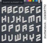 perfect 3d alphabet from the... | Shutterstock .eps vector #226069792