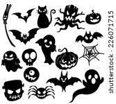 Stock vector halloween icons 226071715