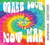 make love not war   hippie style | Shutterstock .eps vector #226073305