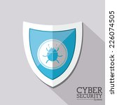 security design over gray... | Shutterstock .eps vector #226074505