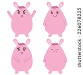 fat bunny | Shutterstock .eps vector #226078225