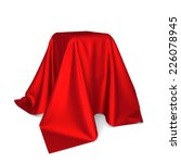 box covered with cloth. 3d... | Shutterstock . vector #226078945