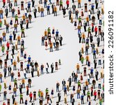 a large group of people in... | Shutterstock .eps vector #226091182