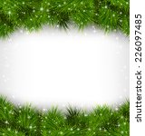 shiny green pine branches like... | Shutterstock .eps vector #226097485