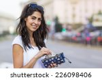 portrait of a beautiful smiling ... | Shutterstock . vector #226098406