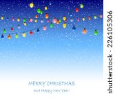 christmas lights and falling... | Shutterstock .eps vector #226105306