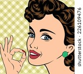 pop art cute retro woman in... | Shutterstock .eps vector #226109476