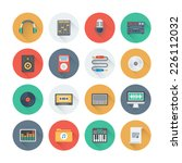 pixel perfect flat icons set... | Shutterstock .eps vector #226112032