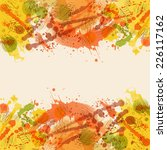 autumn background with stain...   Shutterstock . vector #226117162