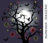 vector illustration with tree ... | Shutterstock .eps vector #226121542