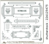 vector decorative elements for...   Shutterstock .eps vector #226125475