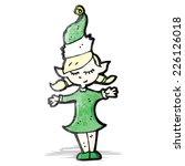 cartoon christmas elf   Shutterstock .eps vector #226126018